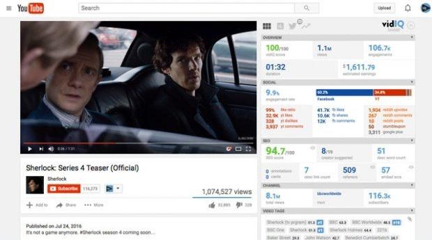 Youtube-SEO-Tools: VidIQ