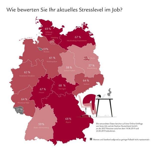 Bundesländer-Ranking: So empfinden die Deutschen ihr Stresslevel