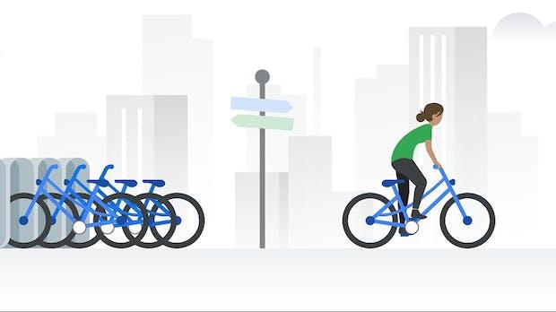 Google Maps: Echtzeit-Daten fürs Bikesharing jetzt in 24 Städten