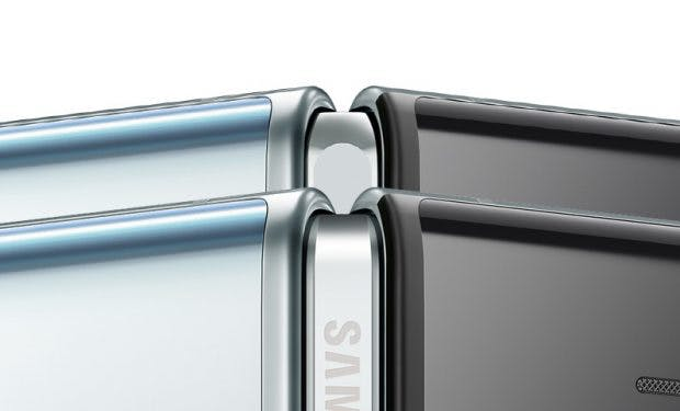Die Änderungen am Scharnier sind auf den ersten Blick (alt: oben; neu: unten) kaum zu erkennen. (Bild: Samsung; The Verge)