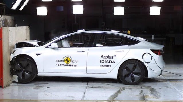 Tesla Model 3 im Crashtest mit Bestwertung