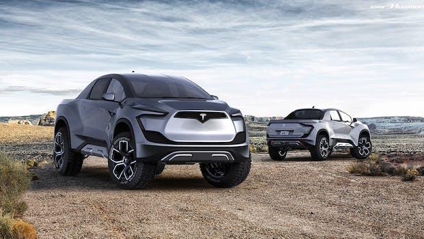 Tesla Pickup-Truck Designkonzept. (Bild: Emre Husmen)