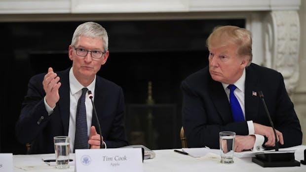 Apple-Chef besorgt über Wettbewerbsnachteil durch US-Zölle