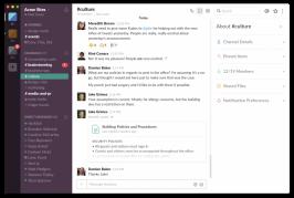 Der beliebte Dienst Slack bietet Unmengen praktischer Kommunikations-Funktionen, spart jedoch ein bisschen bei Sicherheit und Privatsphäre. (Screenshot: Slack)