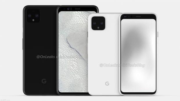 Google Pixel 4 und 4 XL Renderbild. (Bild: Onleaks)