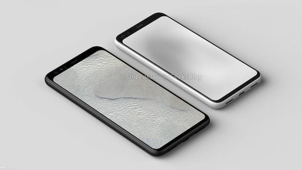 Google-Pixel-4- und 4-XL-Renderbild. (Bild: Onleaks)