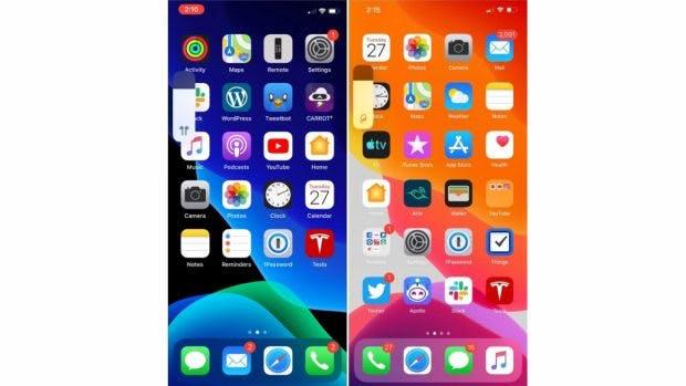 iOS 13.1 bringt unter anderem neue Symbole für die Laustärkeregelung. (Screenshot: 9to5 Mac)