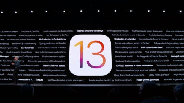 Apple iOS 13. (Screenshot: t3n:Apple)