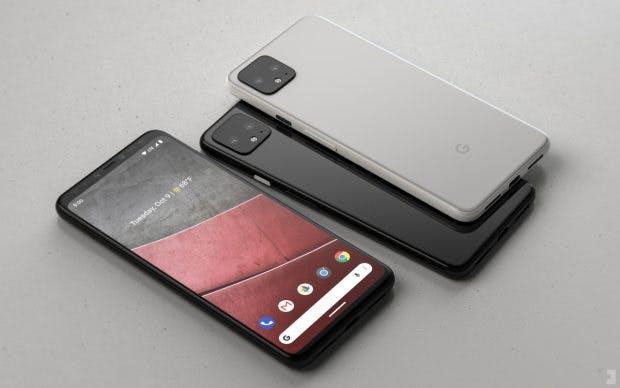 Pixel 4 Renderbild. (Bild Phone Designer)