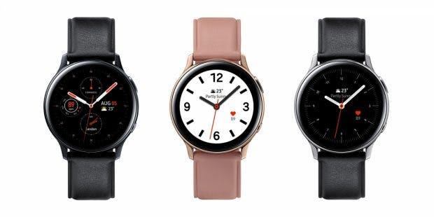 Samsung Galaxy Watch Active 2 Edelstahl mit 44mm. (Bild: Samsung)