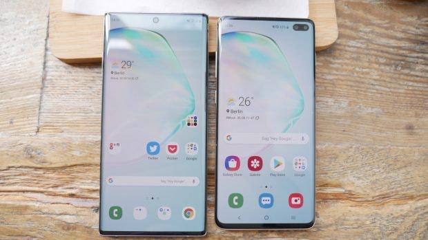 Samsung Galaxy Note 10 Plus vs S10 Plus. (Foto: t3n)