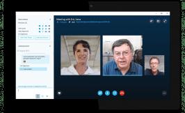 Skype ist für Videotelefonie bekannt. Skype for Business bietet zusätzliche Features für Videokonferenzen und Teamworking. (Screenshot: Microsoft)
