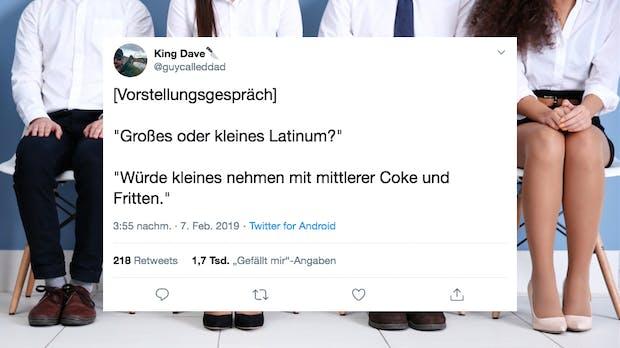 Vorstellungsgespräch: 13 witzige Tweets zu dummen Fragen