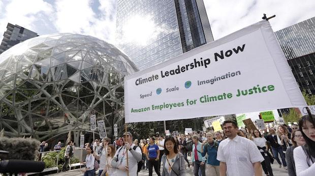 Amazon ist zu langsam: Mitarbeiter kritisieren Klimaschutzpläne