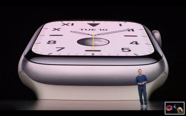 Apple Watch 5 in der Titan-Ausführung