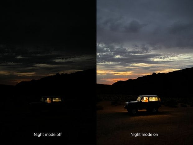 Apple iPhone 11 Pro Night-Mode. (Bild: Apple)