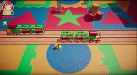 "Screenshot von ""Frogger in Toy Town"" auf Apple Arcade."