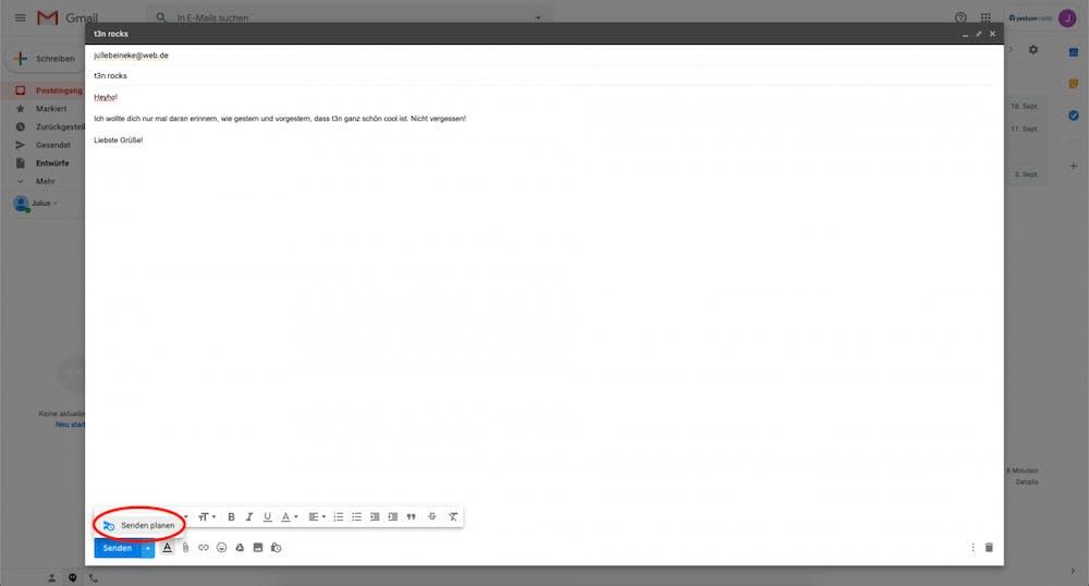 Gmail - Senden planen.
