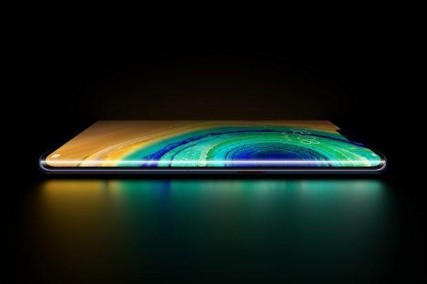 "Huawei Mate 30 Pro mit ""Horizon-Display"" – ohne Lautstärkebuttons. (Bild: Huawei)"