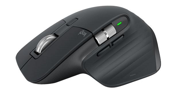 Die neue kabellose Maus MX Master 3 von Logitech will durch schlichtes, hochwertiges Design und neue Scrollrad-Technik punkten. (Foto: Logitech)