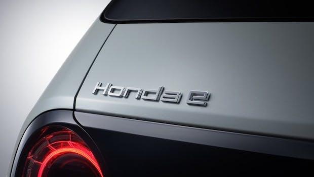 Die Serienversion des Honda E auf der IAA. (Bild: Honda)