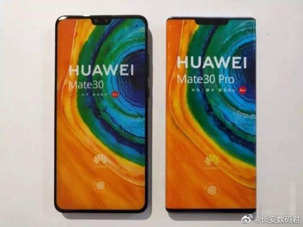 Größenvergleich: Huawei Mate 30 vs Huawei-Mate 30 Pro. (Foto via XDA)