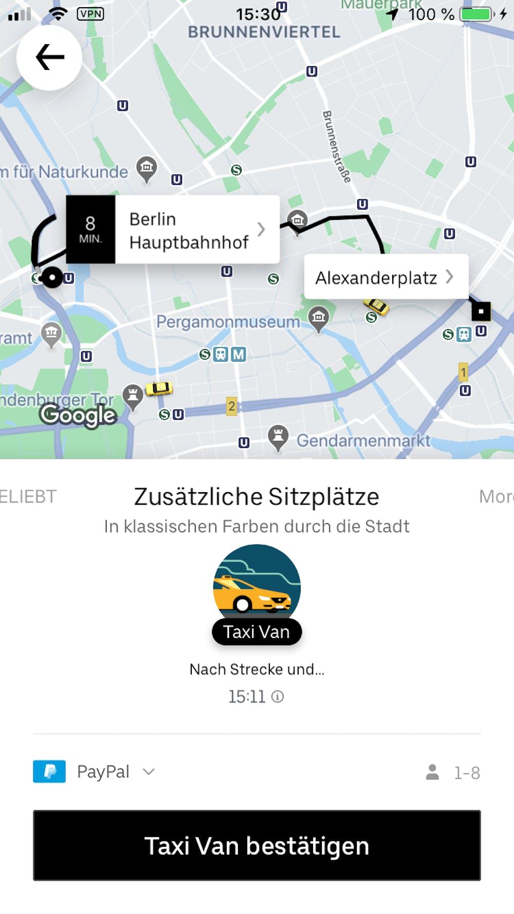 MaaS in Berlin. (Screenshot: t3n)