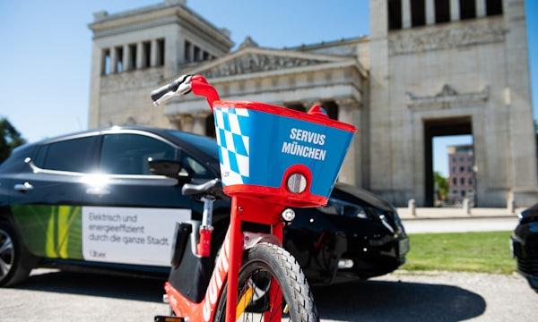 Uber-Tochter Jump startet mit signalroten Pedelecs in München