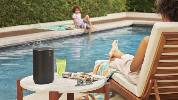 Sonos Move: Akkubetriebener Bluetooth-Speaker mit Trueplay