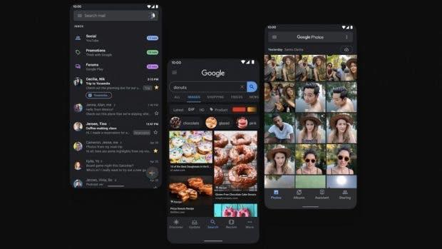 Android 10 Dark Mode. (Bild: Google)