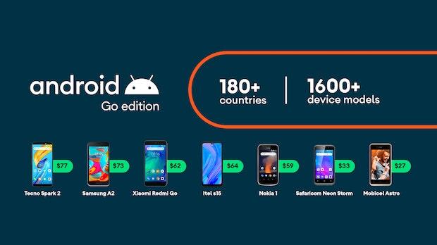 Google stellt verbessertes Android 10 Go-Edition für Einsteiger-Smartphones vor