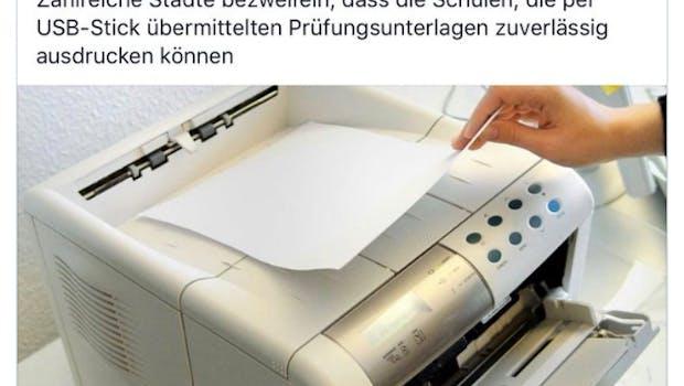 Deutschland deine Digitalisierung – hier gehts zum Tweet. (Screenshot: Twitter)