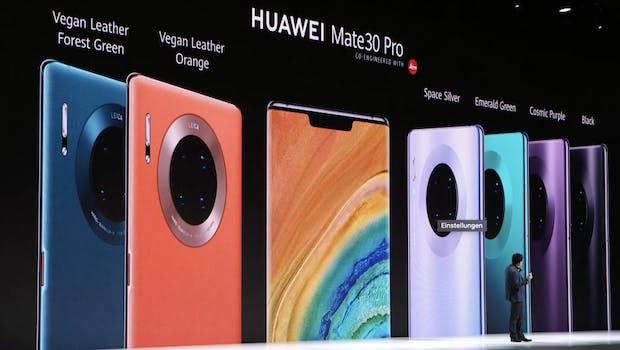 Huawei Mate 30 Pro Farben. (Screenshot: t3n.de)