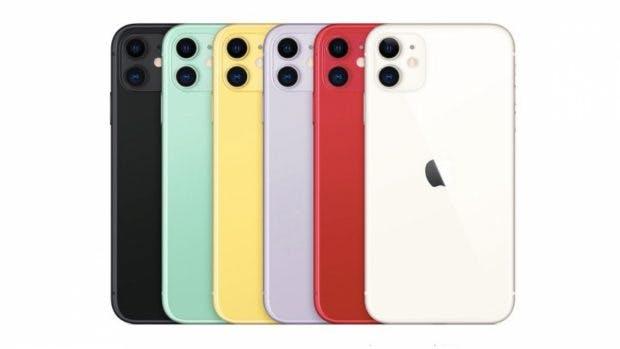 Die Farben des iPhone 11. (Bild: Apple)