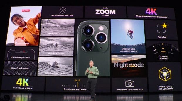 Die Kamerafunktionen des iPhone 11 Pro im Überblick. (Bild: Apple)