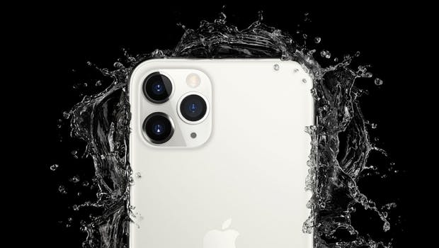 Das iPhone 11 Pro (Max) ist nach IP68 wasser und staubgeschützt. (Bild:Apple)