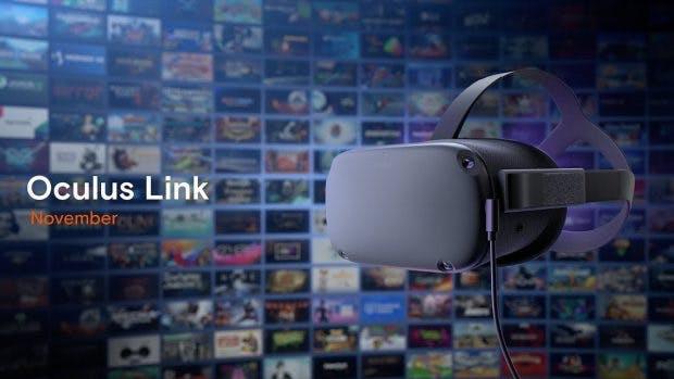 Oculus Quest mit Oculus Link.