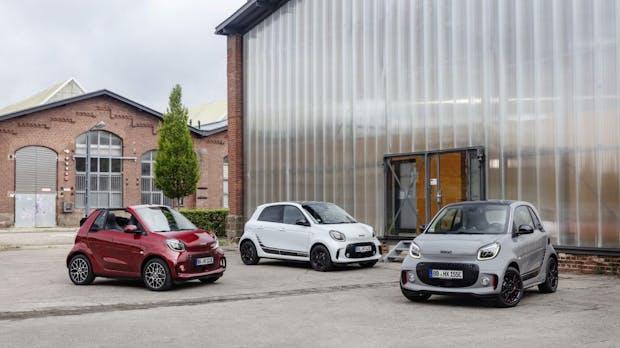 Elektrisch und noch smarter: Daimler zeigt überarbeitete Smart-Modelle