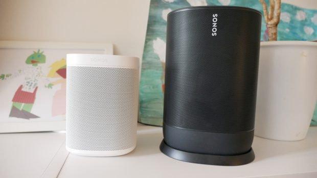 Sonos One neben Sonos Move. (Foto: t3n)