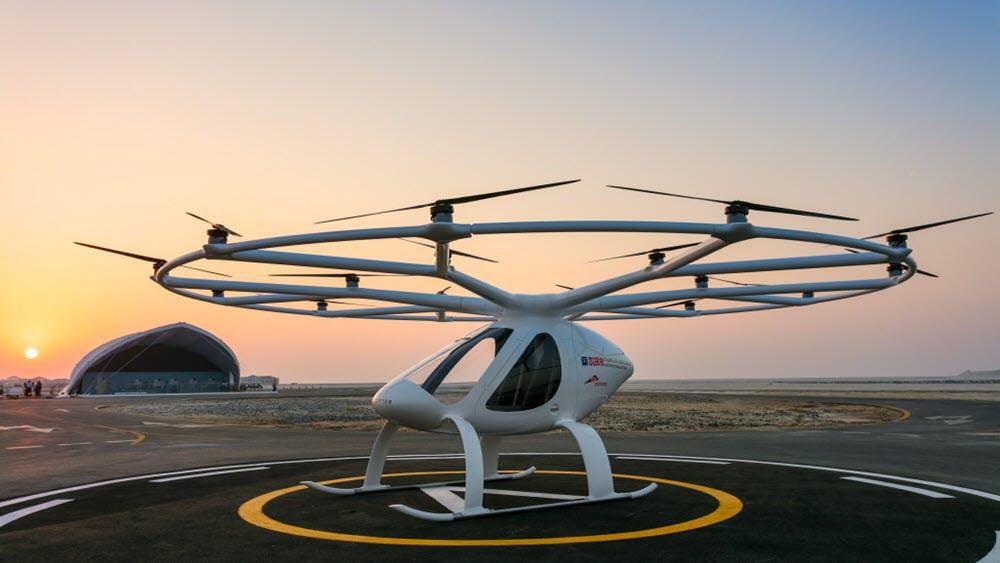 Europapremiere: Volocopter hebt in Stuttgart ab