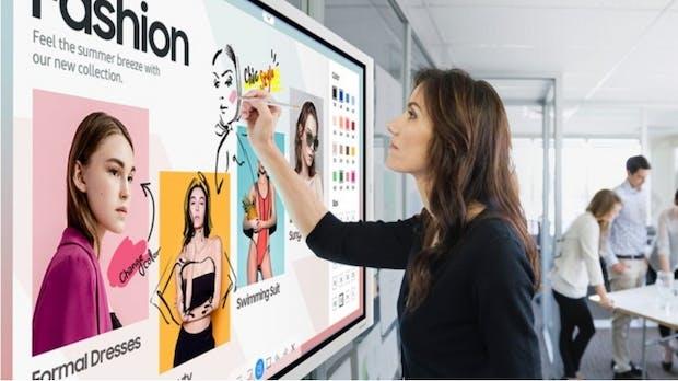 Samsungs digitales Flipchart wird größer und kann Office 365