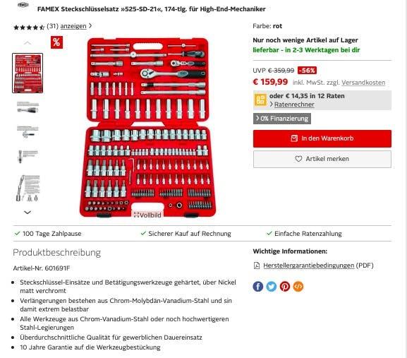 Werkzeugset bei Otto.de