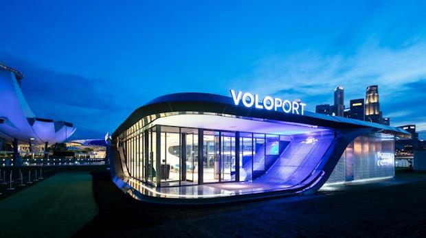 Voloport: Volocopter zeigt weltersten Prototypen eines Flugtaxi-Bahnhofs
