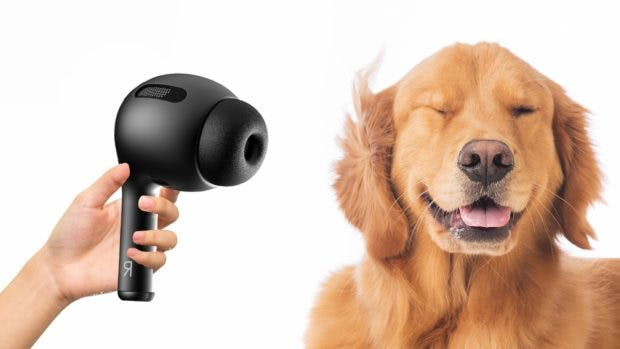 Meme: Airpods Pro (Renderbild) als Föhn. (Bild: Phone Industry; t3n (bearbeitet)