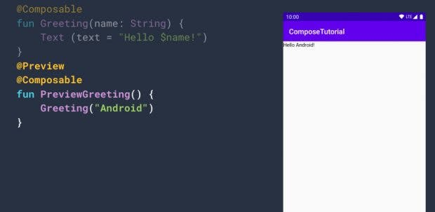Android Studio 4.0 enthält Jetpack Compose. (Screenshot: Google)