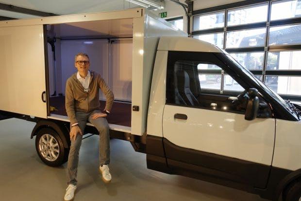 Streetscooter CEO Jörg Sommer in einem neuen Work-Modell
