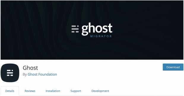 Ghost: Neues Plugin vereinfacht die Migration von WordPress. (Screenshot: Ghost)