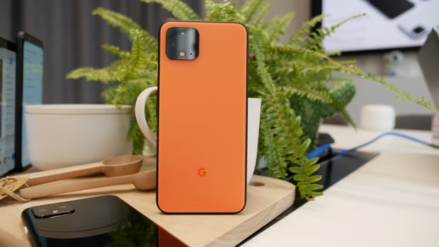 "Google Pixel 4 in ""Oh so Orange"". (Foto: t3n.de)"