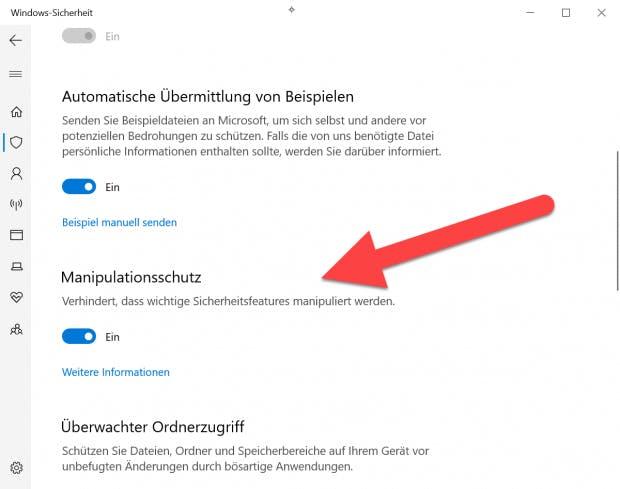 In den Systemeinstellungen könnt ihr schnell nachsehen, wie es in eurer INstallation um den Manipulationsschutz bestellt ist. (Screenshot: t3n.de)
