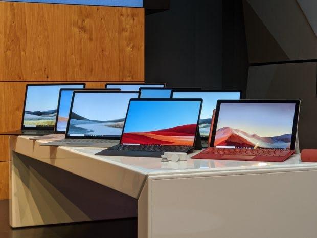 Die 2019er Microsoft Surface Familie. (Foto: t3n)